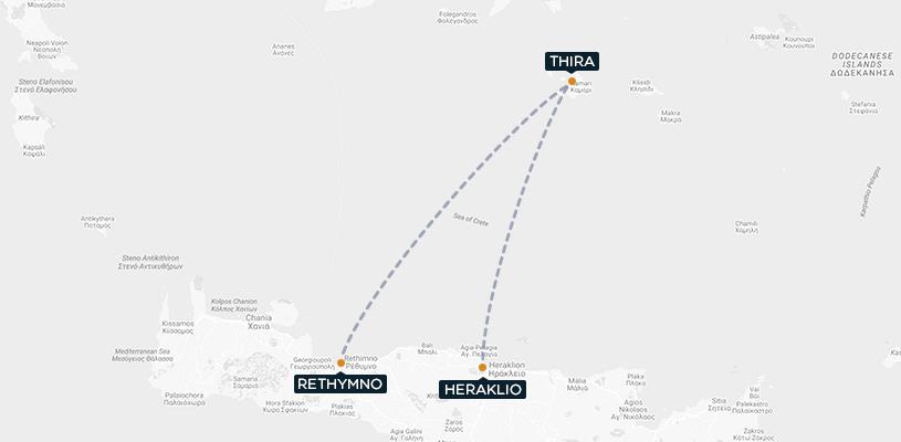 Creta Santorini Map