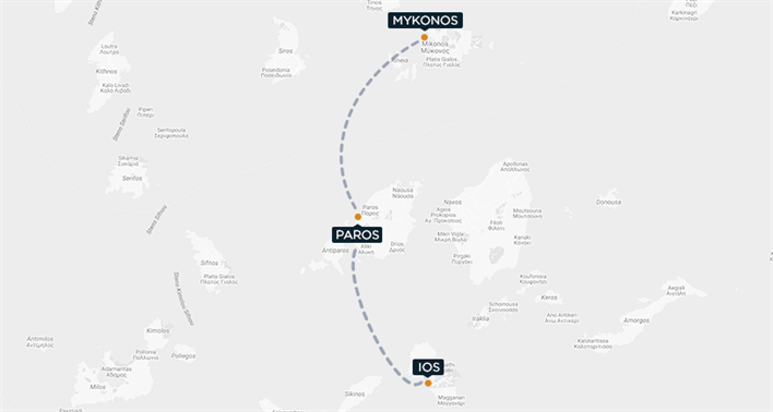 Mykonos-Paros-Ios Map