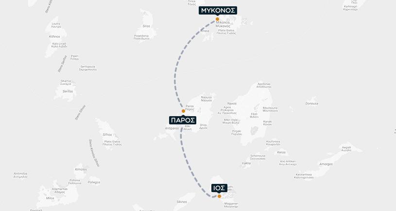 Μύκονος-Πάρος-Ίος Χάρτης