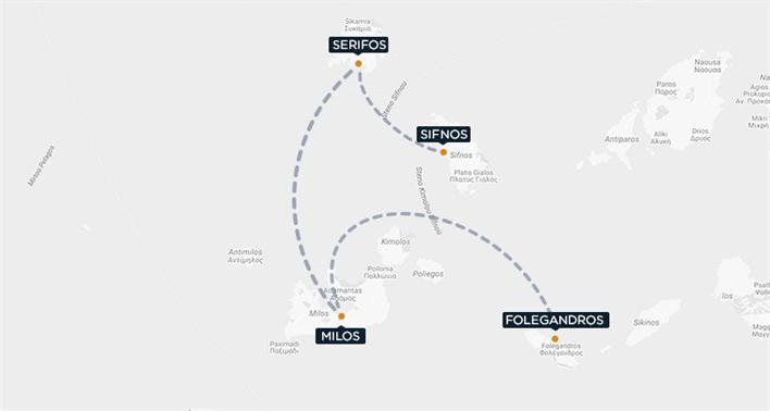 Sifnos Serifos Milos Folegandros Map